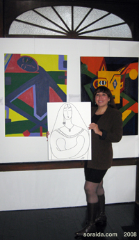Soraida With Peace Drawing
